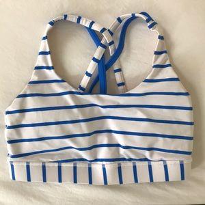 LuluLemon striped sports bra